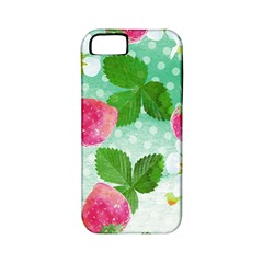 Cute Strawberries Pattern Apple Iphone 5 Classic Hardshell Case (pc+silicone)