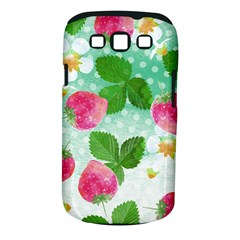 Cute Strawberries Pattern Samsung Galaxy S Iii Classic Hardshell Case (pc+silicone)