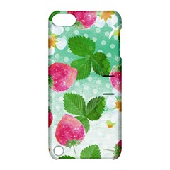 Cute Strawberries Pattern Apple Ipod Touch 5 Hardshell Case With Stand
