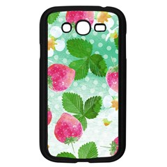 Cute Strawberries Pattern Samsung Galaxy Grand Duos I9082 Case (black) by DanaeStudio