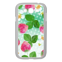 Cute Strawberries Pattern Samsung Galaxy Grand Duos I9082 Case (white) by DanaeStudio