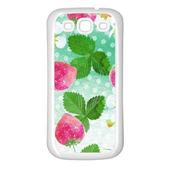 Cute Strawberries Pattern Samsung Galaxy S3 Back Case (white)