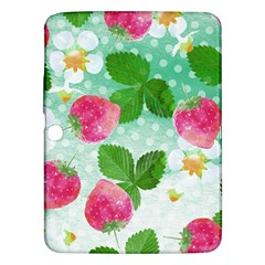 Cute Strawberries Pattern Samsung Galaxy Tab 3 (10 1 ) P5200 Hardshell Case