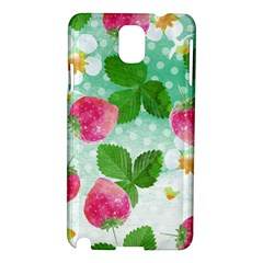 Cute Strawberries Pattern Samsung Galaxy Note 3 N9005 Hardshell Case
