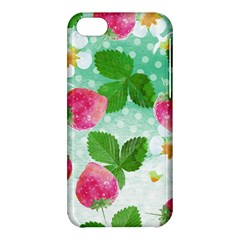 Cute Strawberries Pattern Apple Iphone 5c Hardshell Case