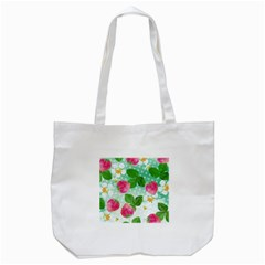 Cute Strawberries Pattern Tote Bag (white)