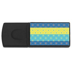Hexagon And Stripes Pattern Usb Flash Drive Rectangular (4 Gb)  by DanaeStudio