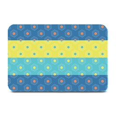 Hexagon And Stripes Pattern Plate Mats by DanaeStudio