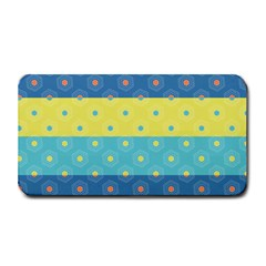 Hexagon And Stripes Pattern Medium Bar Mats by DanaeStudio