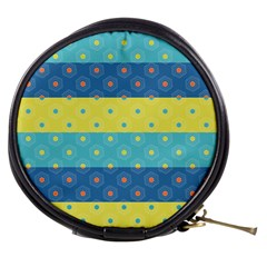 Hexagon And Stripes Pattern Mini Makeup Bags by DanaeStudio