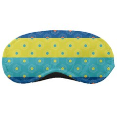 Hexagon And Stripes Pattern Sleeping Masks by DanaeStudio