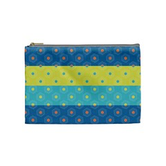 Hexagon And Stripes Pattern Cosmetic Bag (medium)