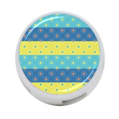 Hexagon And Stripes Pattern 4 Port Usb Hub (one Side) by DanaeStudio