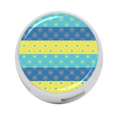 Hexagon And Stripes Pattern 4 Port Usb Hub (two Sides)  by DanaeStudio