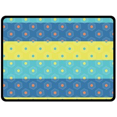 Hexagon And Stripes Pattern Fleece Blanket (large)  by DanaeStudio