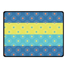 Hexagon And Stripes Pattern Fleece Blanket (small)