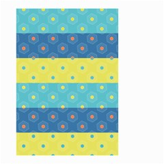 Hexagon And Stripes Pattern Small Garden Flag (two Sides) by DanaeStudio
