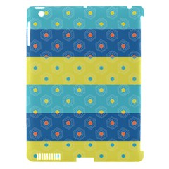 Hexagon And Stripes Pattern Apple Ipad 3/4 Hardshell Case (compatible With Smart Cover) by DanaeStudio