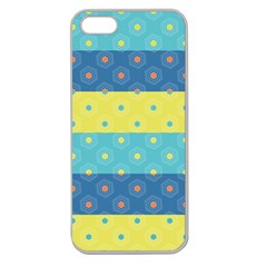 Hexagon And Stripes Pattern Apple Seamless Iphone 5 Case (clear) by DanaeStudio