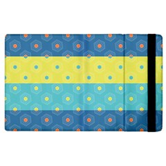 Hexagon And Stripes Pattern Apple Ipad 2 Flip Case by DanaeStudio