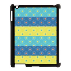 Hexagon And Stripes Pattern Apple Ipad 3/4 Case (black) by DanaeStudio