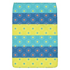 Hexagon And Stripes Pattern Flap Covers (l)  by DanaeStudio