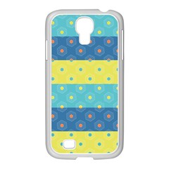 Hexagon And Stripes Pattern Samsung Galaxy S4 I9500/ I9505 Case (white)