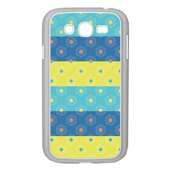 Hexagon And Stripes Pattern Samsung Galaxy Grand Duos I9082 Case (white)