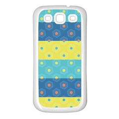 Hexagon And Stripes Pattern Samsung Galaxy S3 Back Case (white) by DanaeStudio