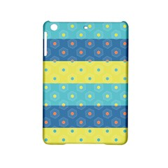 Hexagon And Stripes Pattern Ipad Mini 2 Hardshell Cases by DanaeStudio