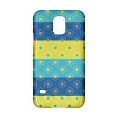 Hexagon And Stripes Pattern Samsung Galaxy S5 Hardshell Case