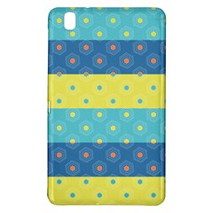 Hexagon And Stripes Pattern Samsung Galaxy Tab Pro 8 4 Hardshell Case by DanaeStudio