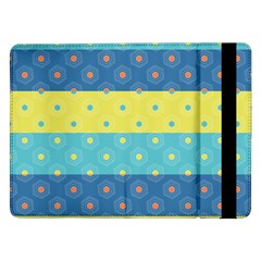 Hexagon And Stripes Pattern Samsung Galaxy Tab Pro 12 2  Flip Case by DanaeStudio