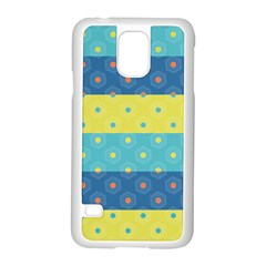 Hexagon And Stripes Pattern Samsung Galaxy S5 Case (white)
