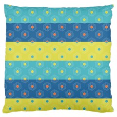 Hexagon And Stripes Pattern Standard Flano Cushion Case (one Side) by DanaeStudio