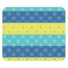 Hexagon And Stripes Pattern Double Sided Flano Blanket (small)
