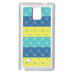 Hexagon And Stripes Pattern Samsung Galaxy Note 4 Case (white) by DanaeStudio