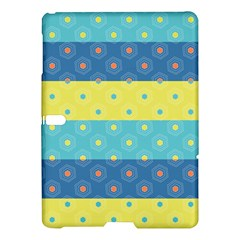 Hexagon And Stripes Pattern Samsung Galaxy Tab S (10 5 ) Hardshell Case