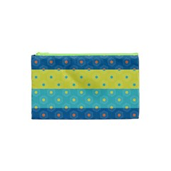 Hexagon And Stripes Pattern Cosmetic Bag (xs)