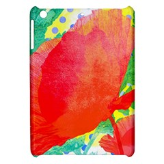 Lovely Red Poppy And Blue Dots Apple Ipad Mini Hardshell Case