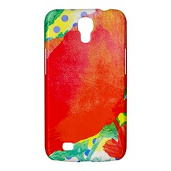 Lovely Red Poppy And Blue Dots Samsung Galaxy Mega 6 3  I9200 Hardshell Case