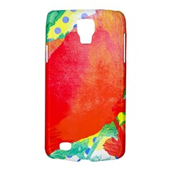Lovely Red Poppy And Blue Dots Galaxy S4 Active by DanaeStudio