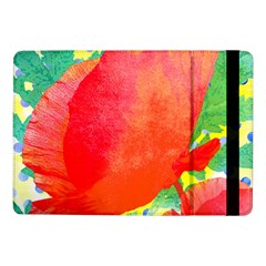 Lovely Red Poppy And Blue Dots Samsung Galaxy Tab Pro 10 1  Flip Case