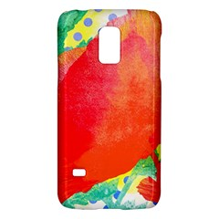 Lovely Red Poppy And Blue Dots Galaxy S5 Mini by DanaeStudio