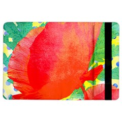 Lovely Red Poppy And Blue Dots Ipad Air 2 Flip