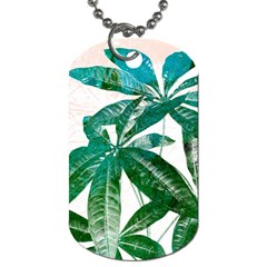 Pachira Leaves  Dog Tag (two Sides)