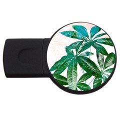 Pachira Leaves  Usb Flash Drive Round (2 Gb)  by DanaeStudio