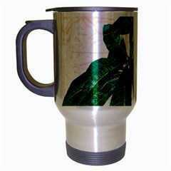 Pachira Leaves  Travel Mug (silver Gray) by DanaeStudio