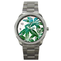 Pachira Leaves  Sport Metal Watch by DanaeStudio