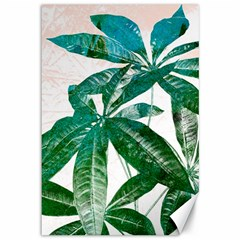 Pachira Leaves  Canvas 12  X 18